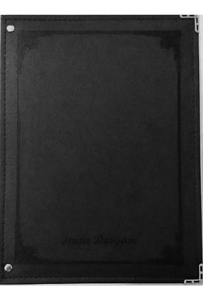 Önder 7101-3 16LI Termo Deri Siyah Imza Dosyası