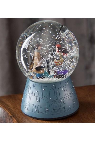 Evim Tatlı Evim Kış Masalı Kar Küresi Müzikli ve Işıklı Otomatik Kar Püskürtmeli