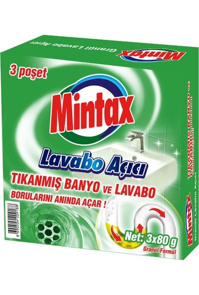 Mintax Lavabo Açıcı 3 x 80 gr