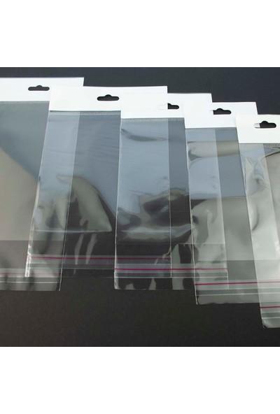 Eposet Askılı Şeffaf Bantlı Poşet 12 cm x 25 cm 1.000'li paket