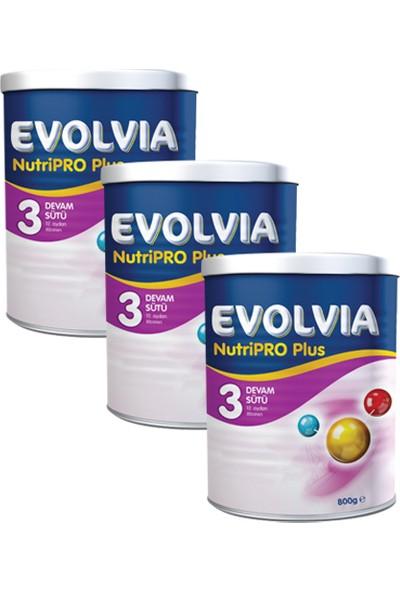 Evolvia 3 Devam Sütü Nutripro Plus 800 gr x 3 Adet