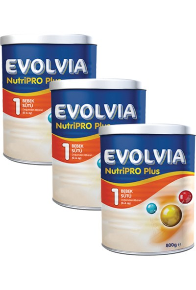 Evolvia 1 Bebek Sütü Nutripro Plus 800 gr x 3 Adet