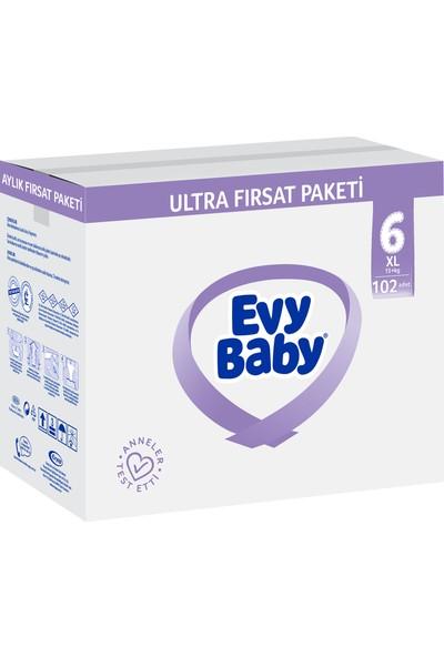 Evy Baby Bebek Bezi 6 Numara Ekstra Large Ultra Fırsat 102'li ve Duru Granül Sabun 400 gr