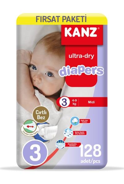Kanz Bebek Bezi 3 Numara Fırsat Paketi 2 x 64'lü