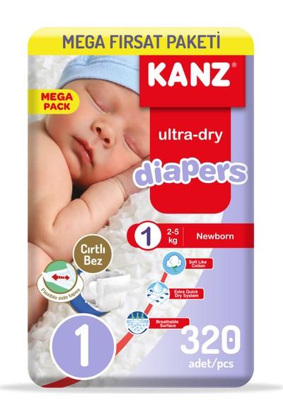 Kanz Bebek Bezi 1 Numara Yenidoğan Eko Paket 4 x 80'li