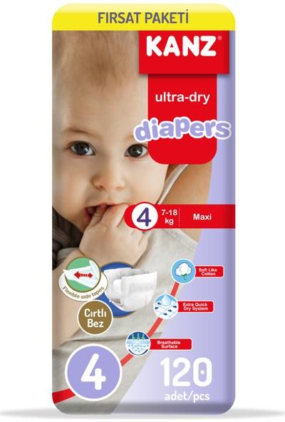 Kanz Bebek Bezi 4 Numara Fırsat Paketi 2 x 60'lı