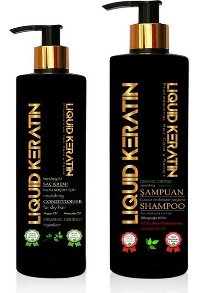 Liquid Keratin Günlük Saç Bakım Seti Krem + Şampuan