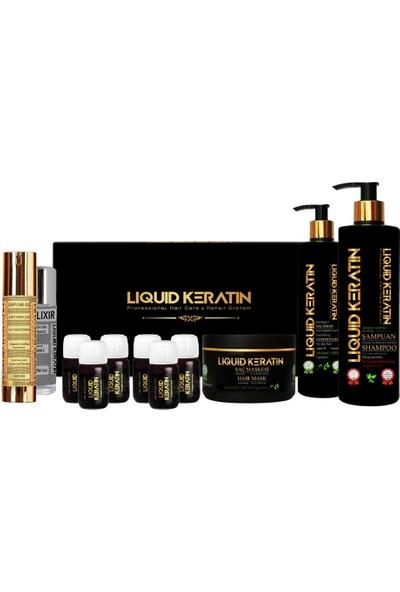 Liquid Keratin Saç Botoksu Plus Yıpranmış Saçlara Keratin Yükleme Seti