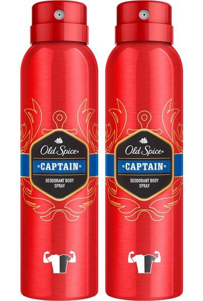 Old Spıce Sprey Deodorant 150 ml Captain x 2 Adet