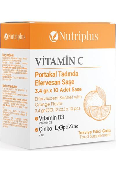 Farmasi Nutriplus Vitamin C Vitamin D3 ve Çinko İçeren Efervesan Takviye Edici Gıda