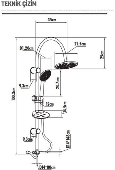 Creavit SH610 Tepe Duş Sistemi