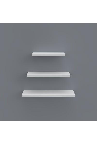 Larose Duvar Rafı Elita 000*050-040-030*10 Beyaz Süs