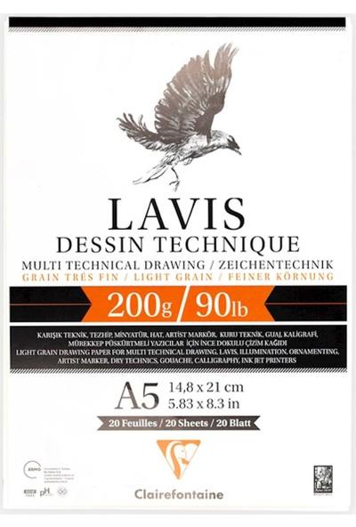 Clairefontaine Lavis Multi Teknik Yapışkanlı Defter 20 Yaprak A5