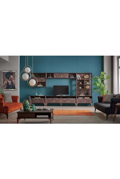 Kelebek Mobilya 90281-Welmont Tv Üst Modül Geniş