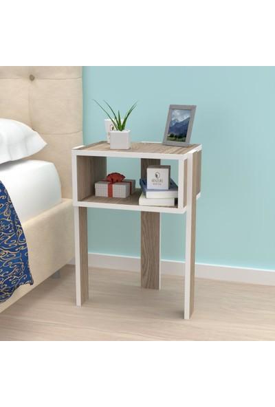 Kenzlife Komodin Aletta Crd Komidin 060*040*30 3 Ayaklı Şifonyer Kitaplık Yatak Odası Genç Odası