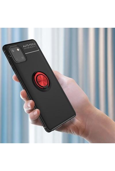 SaleShop Samsung Galaxy Note 10 Lite Kılıf Selfie Yüzüklü Silikon Rvl