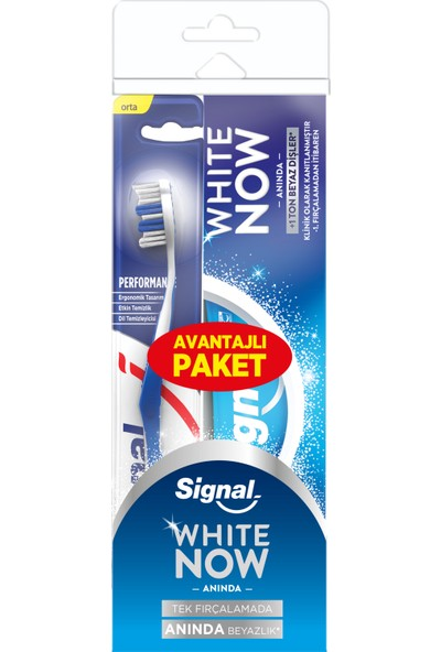 Signal White Now Diş Macunu 75 ML + Signal Performans Diş Fırçası Orta