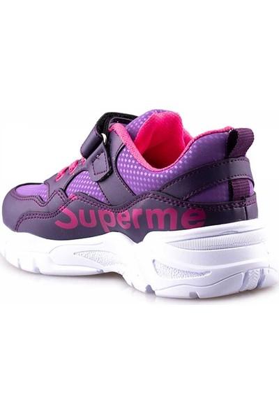 Lafonten Lafonten Kız Çocuk Mor Fujya Spor Ayakkabı