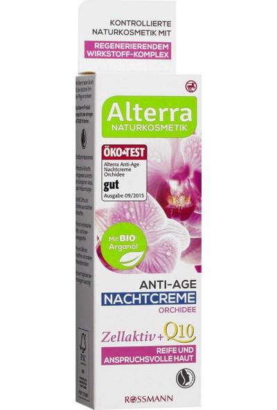 Alterra Organik Argan Yağlı ve Orkide Özlü Yaşlanma Karşıtı Gece Kremi 50 ml