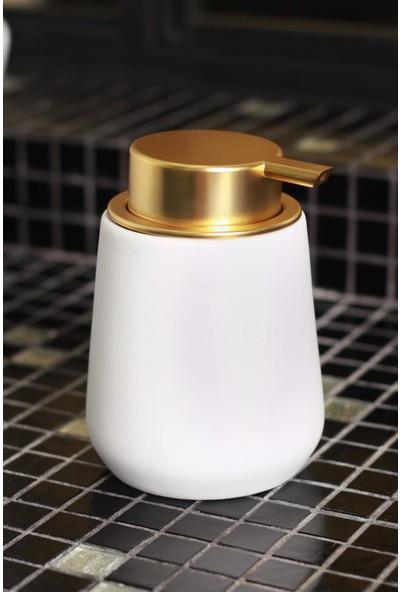 Acar Matric Seramik Mat Görünümlü Sıvı Sabunluk - Beyaz