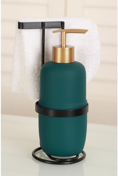 Acar Marly Seramik Metal Standlı Mat Sıvı Sabunluk - Yeşil