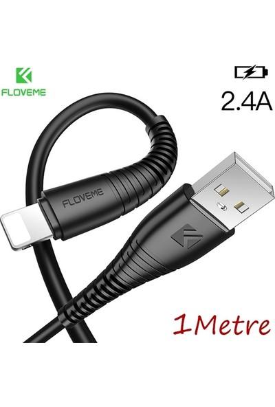 Floveme Lightning 2.4A 1 mt Şarj USB Kablo AL-29771
