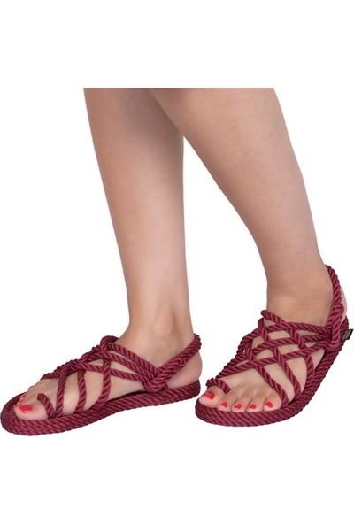 Nomadic Republic Nomadic Kadın Halat Sandalet - Bordo