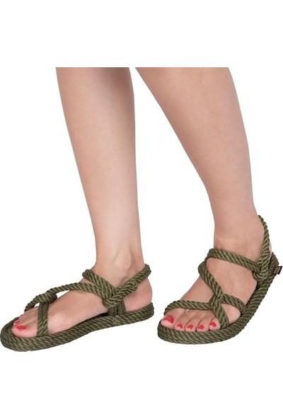 Nomadic Republic Mykonos Kadın Halat Sandalet - Haki