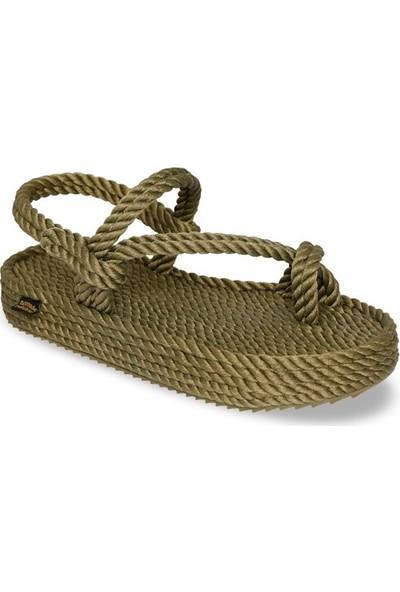 Nomadic Republic Hawaii Platform Kadın Halat Sandalet - Haki