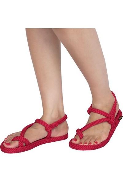 Nomadic Republic Hawaii Kadın Halat Sandalet - Kırmızı