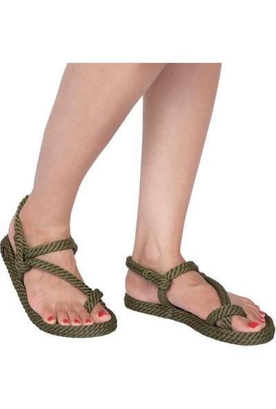 Nomadic Republic Hawaii Kadın Halat Sandalet - Haki