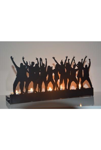 Pnr Quadruble Dansıng Metal Mumluk Şamdan