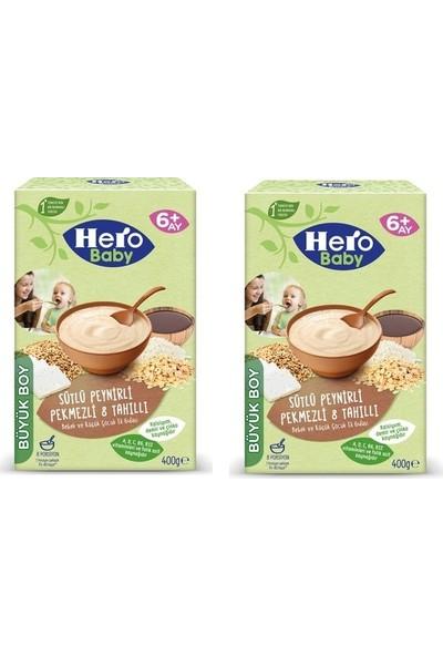 Hero Baby Sütlü Peynirli Pekmezli 8 Tahıllı Kaşık Maması 400 gr x 2 Adet