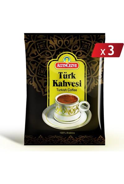 Altın cezve Türk Kahvesi 100 gr x 3