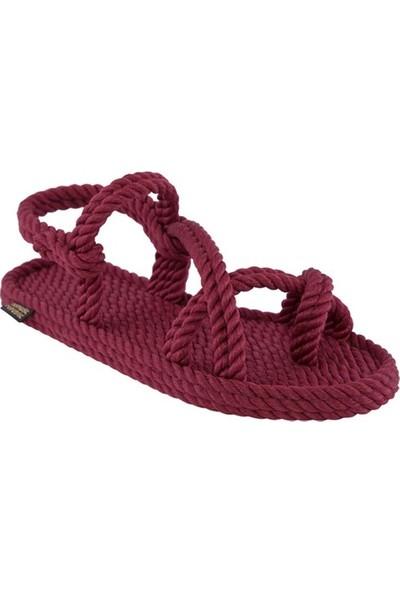 Nomadic Republic Capri Kadın Halat Sandalet - Bordo
