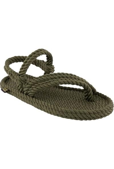 Nomadic Republic Cancun Kadın Halat Sandalet - Haki