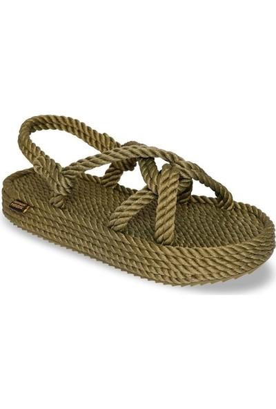 Nomadic Republic Bora Bora Platform Kadın Halat Sandalet - Haki