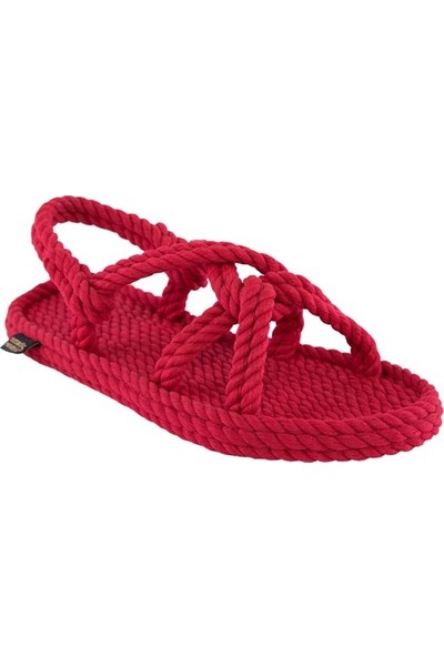 Nomadic Republic Bora Bora Kadın Halat Sandalet - Kırmızı