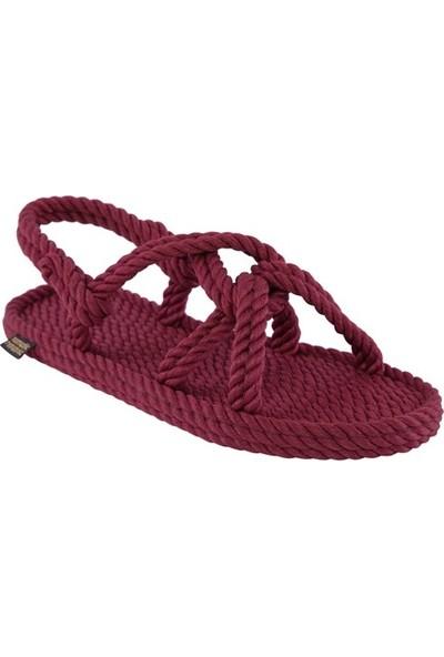 Nomadic Republic Bora Bora Kadın Halat Sandalet - Bordo