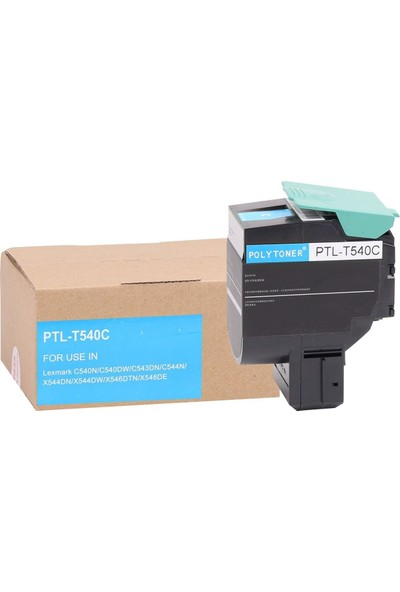 Lexmark Polytoner C540A1CG (C540-C543-C544) 1000Syf. Mavi Toner