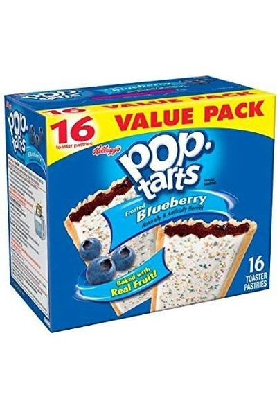 Pop Tarts Toaster Pastries Frosted Blueberry 16'lı 768G