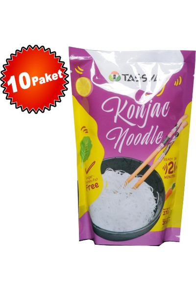Tassya Glutensiz Shirataki Konjac Noodle 270 gr x 10 Adet