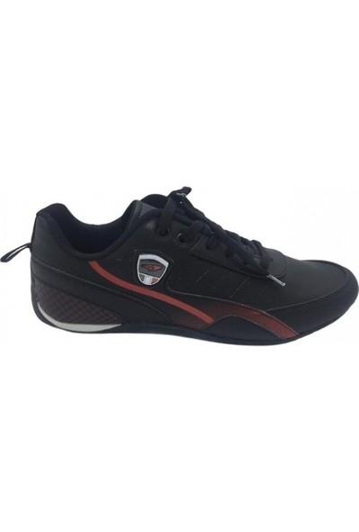 Free Marka Siyah Kırmızı Ince Taban Erkek Spor Ayakkabı