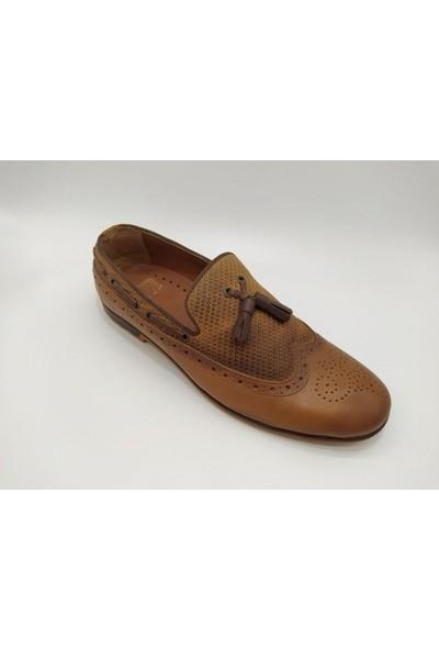 Akm Deri Taba Corcik Erkek Ayakkabı