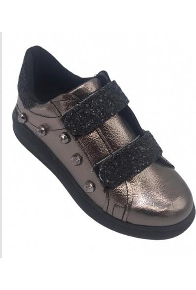 Cemre Filet Platin Taşlı Şık Çocuk Ayakkabı