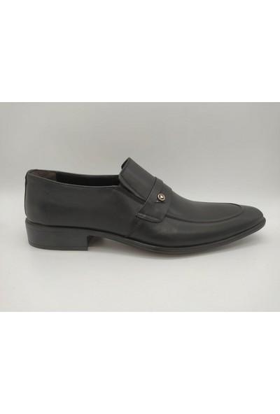Çağlar 898 Siyah Kahve Deri Erkek Klasik Ayakkabı