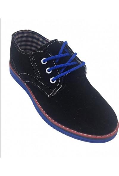 Scorx Filet Siyah Saxmavi Erkek Çocuk Klasik Ayakkabı
