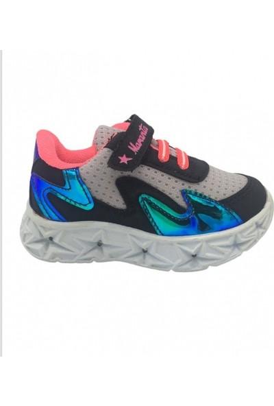 Maranta Patik Işıklı Siyah Pudra Çocuk Spor Ayakkabı