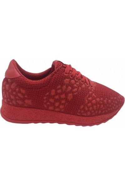 Parkmoda 145K1001 File Kırmızı Kadın Spor Ayakkabı
