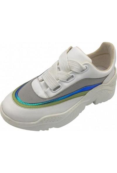 Parkmoda Hologram Kadın Spor Ayakkabı